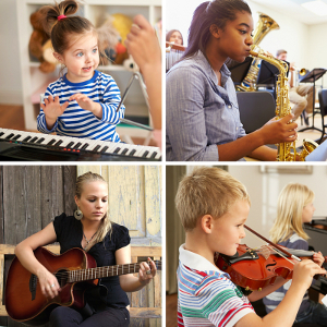 Music lessons for different instruments